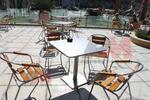 Стол за басейн,произведен от алуминии с различен вид седалка