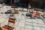 Градински алуминиеви столове за басейн