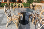 Богатство от изпълнения на стол от естествен ратан по поръчка