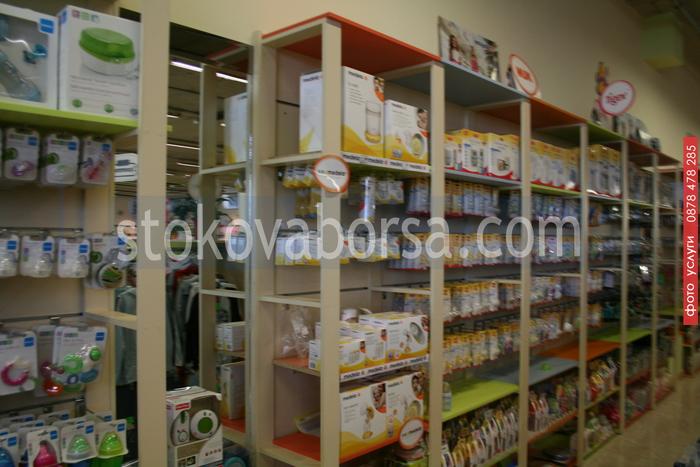 стелажи за магазини за бебешки аксесоари