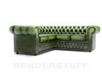зелени луксозни Дивани Chesterfield