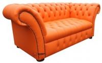 поръчки оранжев Диван Chesterfield