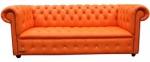 Диван Chesterfield в оранжев цвят лукс